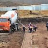 В Крыму залили бетон под дворец водных видов спорта