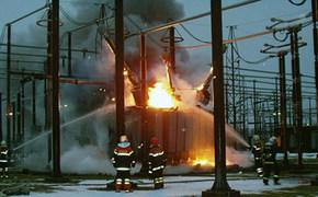 Пожар на подстанции «Меганома» привел к отключению света