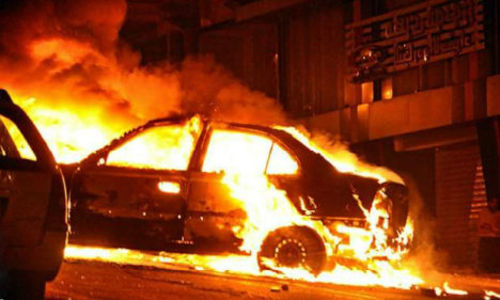 Росгвардейцы Севастополя спасли водителя из горевшего авто