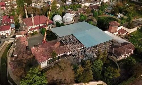 Ханский дворец накрыли металлическим куполом
