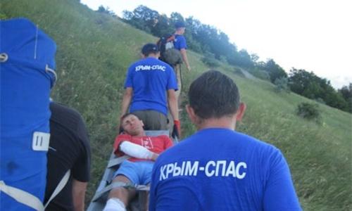 Житель Донецка свалился на Крым с неба