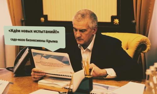 Аксенову доложили, что крымский бизнес неубиваем