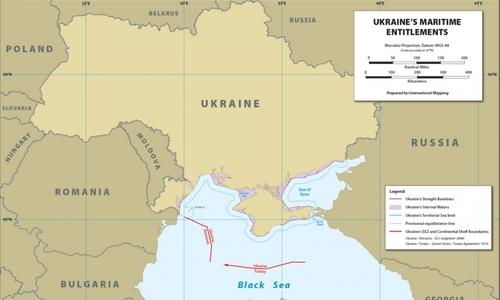 Украина присвоила себе половину Черного моря