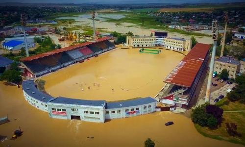 Ущерб, нанесенный стадиону в Керчи не оценен