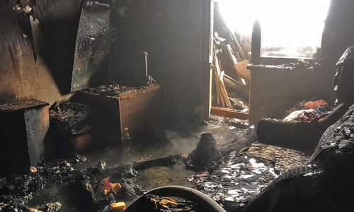 На пожаре в Евпатории погиб мужчина