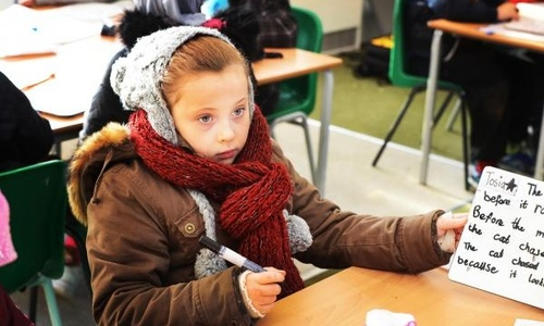 Школьники вынуждены учиться в верхней одежде