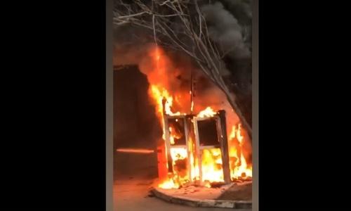 В Симферополе в сторожке сгорел охранник