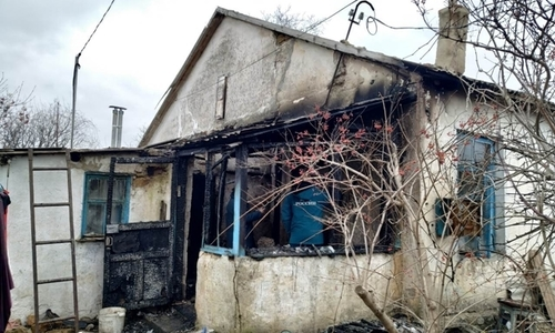 На пожаре под Симферополем нашли труп
