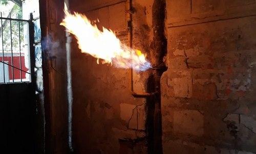В мечети под Бахчисараем загорелась газовая труба
