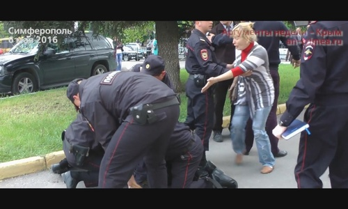 В Симферополе разогнали казачий митинг