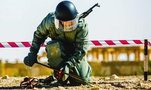 Военные Крыма собрали свои неразорвавшиеся снаряды