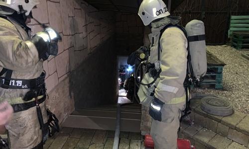 Из горящего СПА-комплекса в Евпатории вывели 59 человек