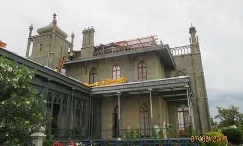 Что пострадало от непогоды в Воронцовском дворце