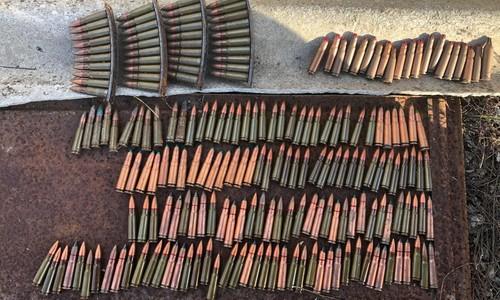 В Крыму нашли целый ящик патронов и гранат