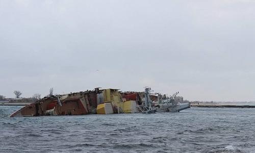 Затопленное в проливе бухты Донузлав судно нанесет экологический вред