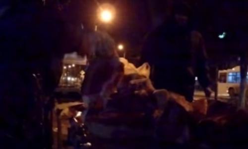 Керченские стихийщики продают свинину по ночам