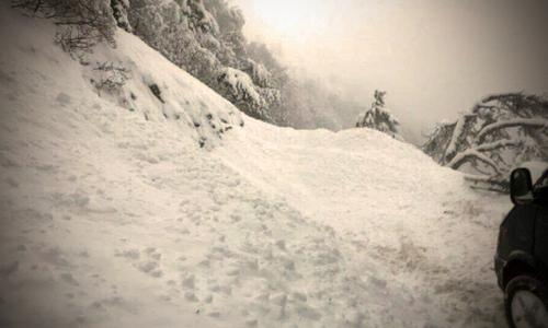 Крымские туристы лавин не боятся: на Ай-Петри по-прежнему много отдыхающих