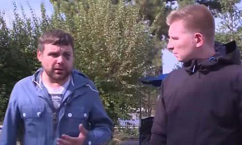 Мотоциклист напал на журналиста в самом центре Симферополя