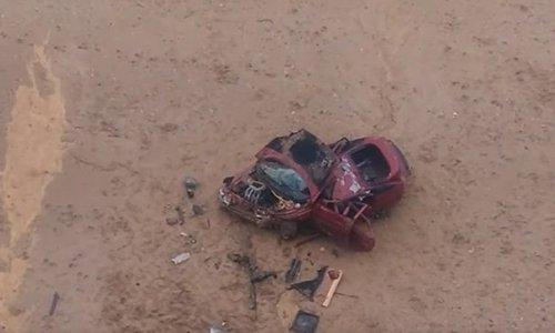 В Крыму автомобиль улетел с высокого обрыва