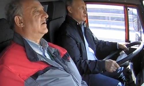 Соцести отреагировали на управляющего грузовиком Путина