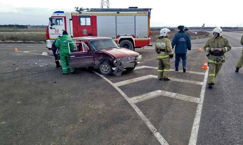На «Тавриде» столкнулись ВАЗ и Hyundai